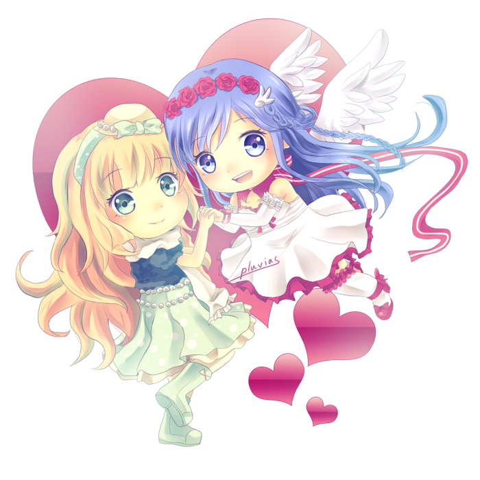 Commission : Luna + Yule Chibi by Pluvias
