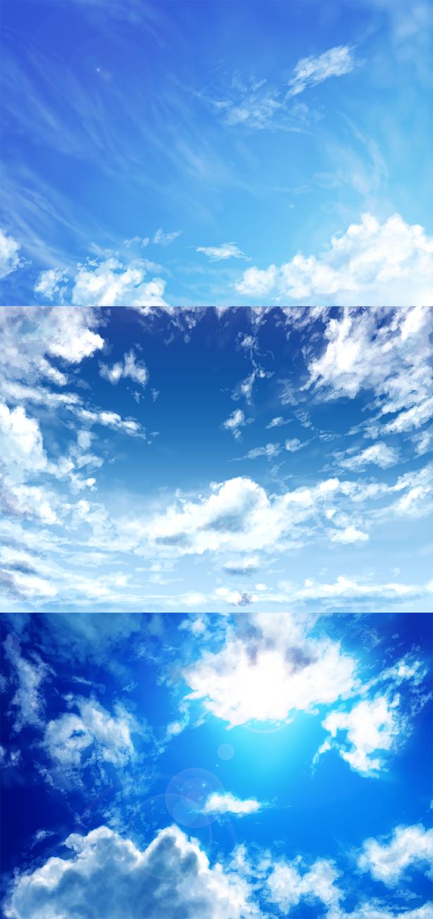 daylight sky practice by pluvias on deviantart
