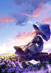 Violet Evergarden (collab) by Pluvias