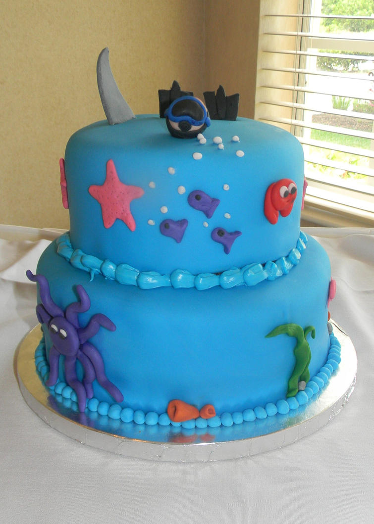 Cake Art Reddit : Ocean-themed Groom s Cake. by Melissa8293 on DeviantArt