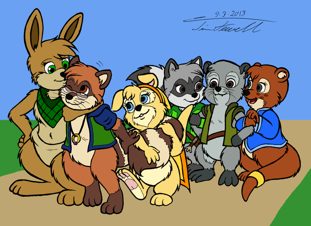 Skip and friends by Timothius