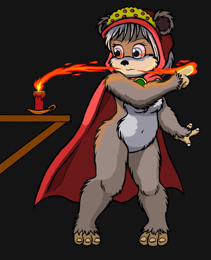Shayock Firebending by Timothius
