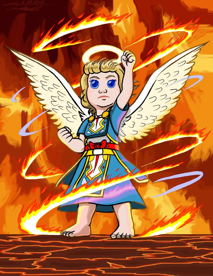 Carla burning pillar by Timothius