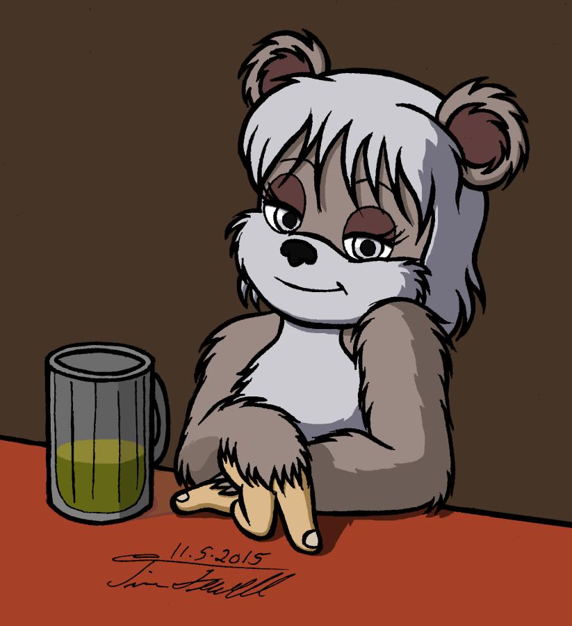 Shayock at the bar by Timothius