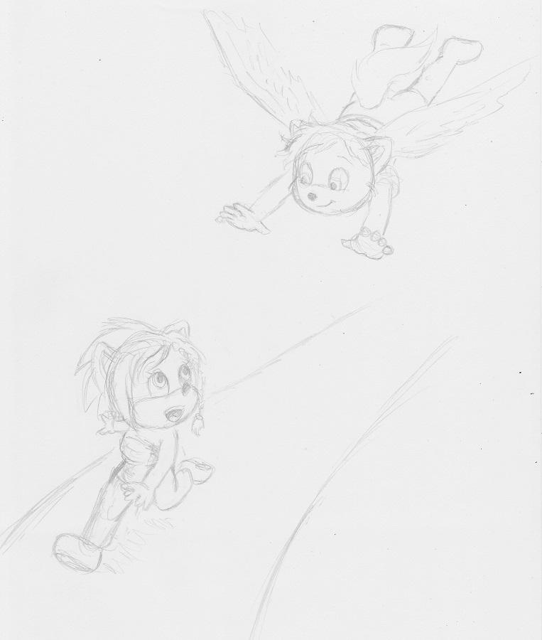 Timothius chasing Mellie by Timothius
