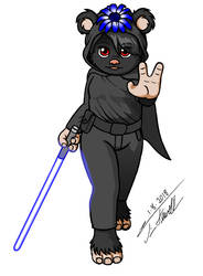 Layloo with lightsaber by Timothius
