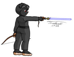 Layloo lightsaber and bow