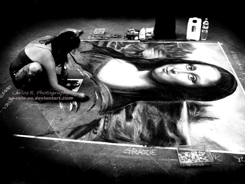 Mona Lisa Artist by oO-Rein-Oo