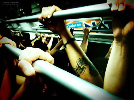 Musician In A Train