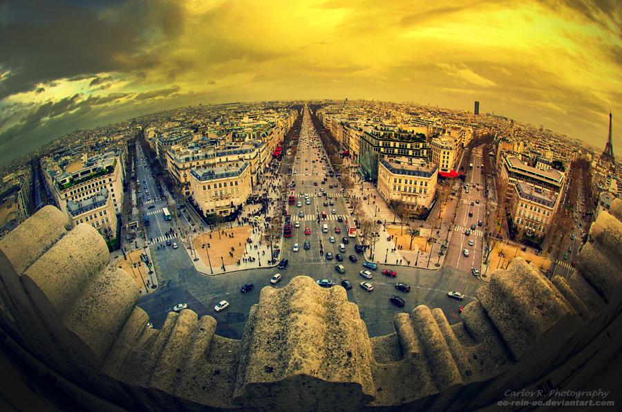Paris Vue De L'Arc De Triomphe by oO-Rein-Oo