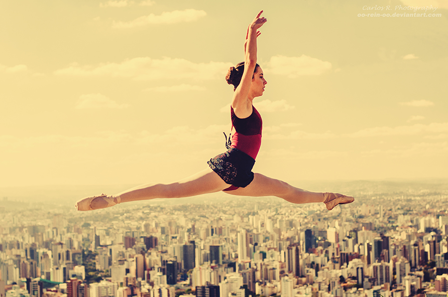 A Leap Over The City by oO-Rein-Oo