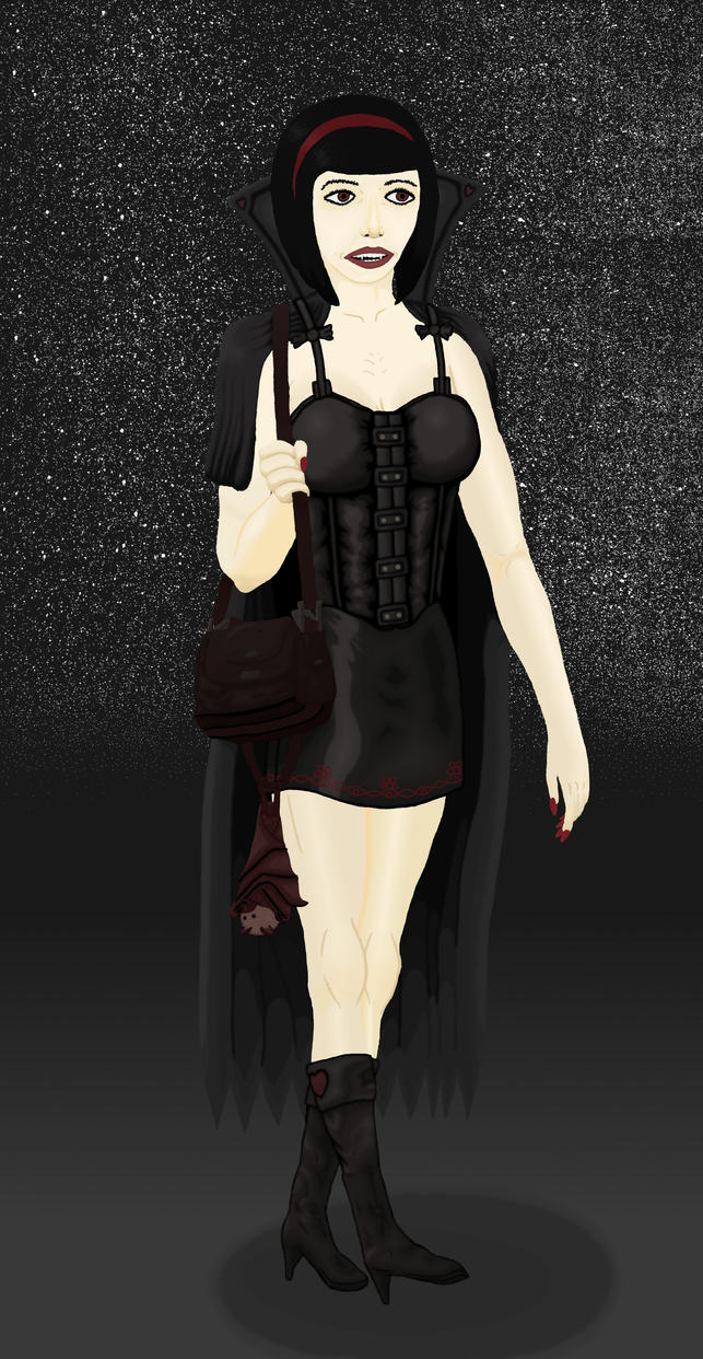 Innocent teenage Vampire girl 2 by Michael-Sexbomb