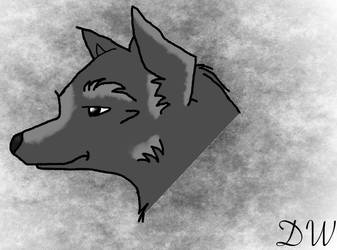 First Wolf Drawing by danieeel31