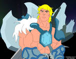 Ice Armor He-Man with background