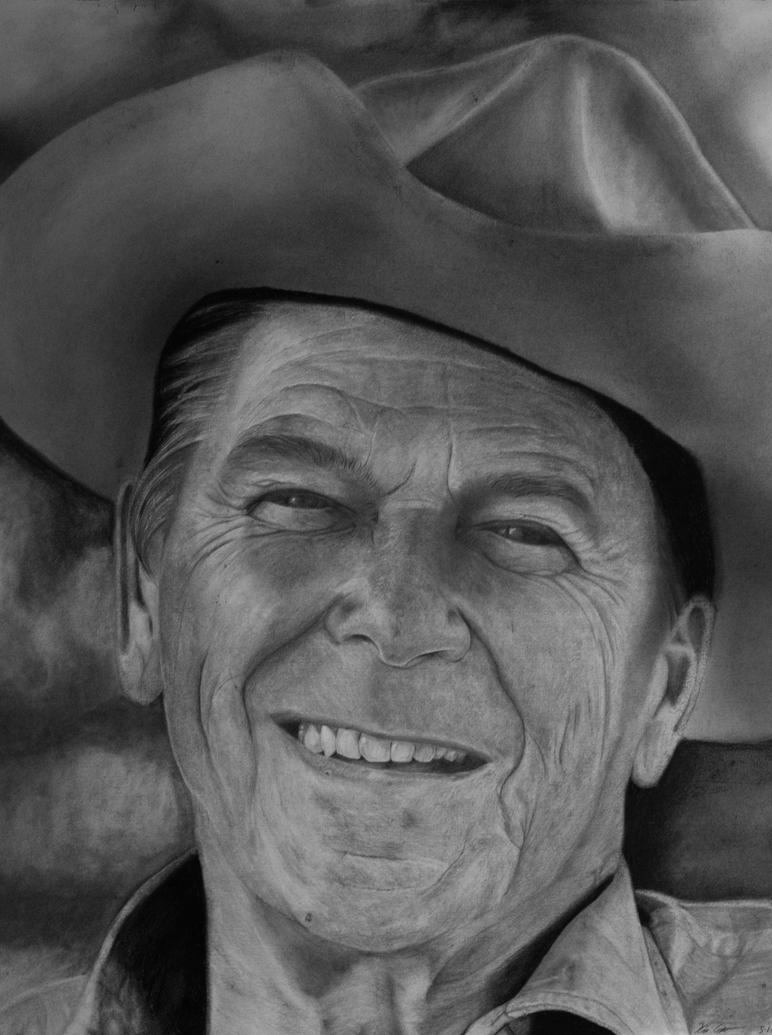 President Ronald Reagan by KevinContrerasArt