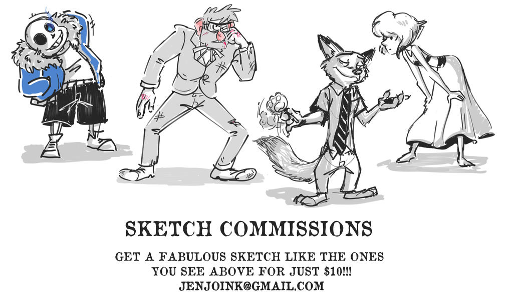 Commissions 7-16 by MissKeith