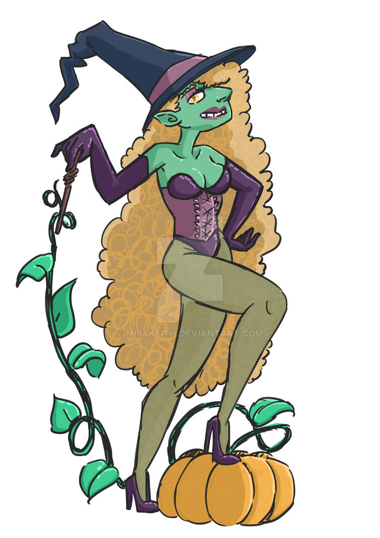 witch pinup 2016 by MissKeith