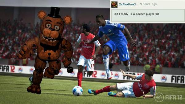 Freddy Is Soccer Player. XD by bonnieta123