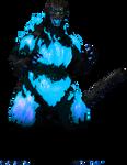 Atomic Blue Burning Godzilla