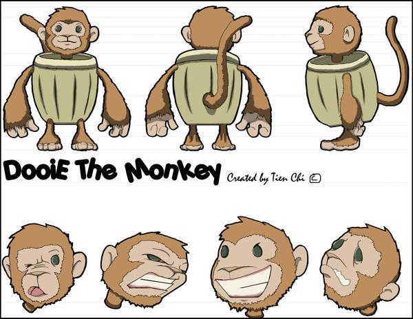 Dooie the Monkey by Lazychynksta