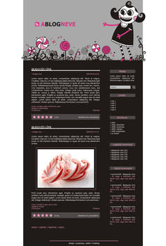 Horror Candy - blog design