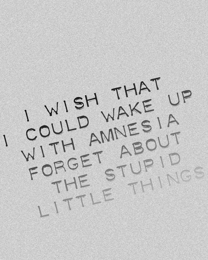 amnesia song lyrics
