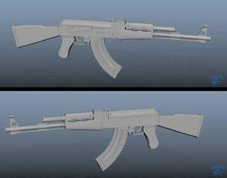Ak47 3D by CreationOfHell
