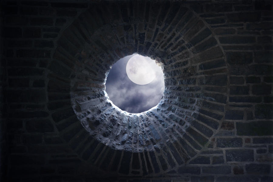 premade background - 007 Round Window by thalija-STOCK