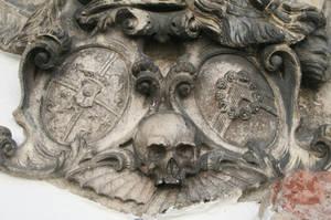 graveyard - 007 Stone skull by thalija-STOCK