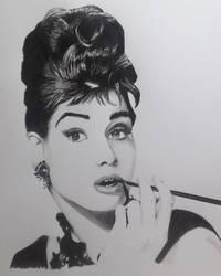 Audrey Hepburn Ikea Poster by frantastic-scribbles
