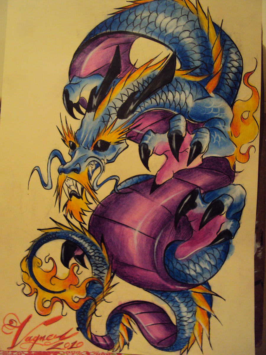 dragon style tattoo