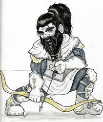 Pathfinder Inktober Day 15: Dwarf Paladin by pleasant28
