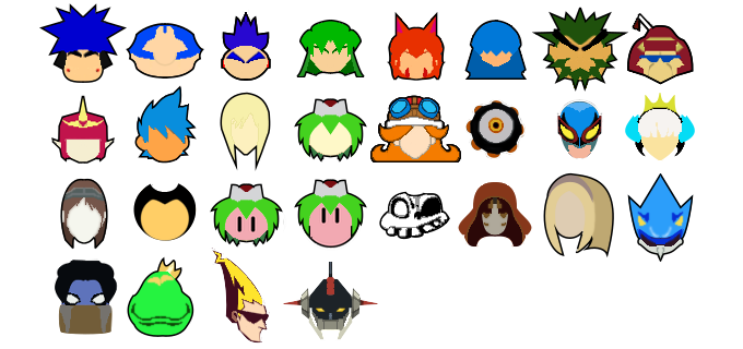 Super Smash Bros Ultimate - Stock Icons by drag0nscythe