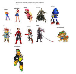 Characters for SSBU for NS Part 2 by SaucerofPeril