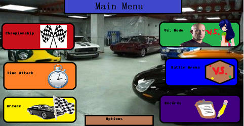 Fast and the Furious Championship Main Menu by SaucerofPeril