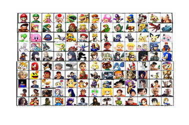 Super Smash Bros. Vengeance Character Roster by SaucerofPeril