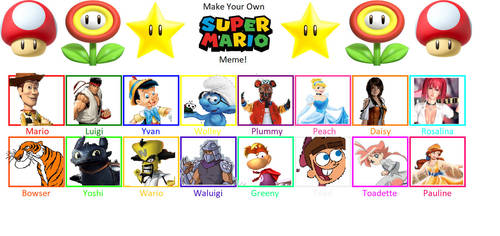 Super Mario Bros. Recast Meme (My Version) by SaucerofPeril