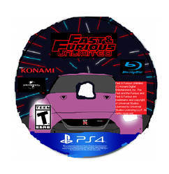 Fast and Furious Unlimited PS4 Game Disc by SaucerofPeril