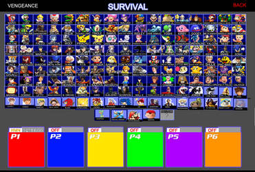 SSBV Updated Character Roster by SaucerofPeril