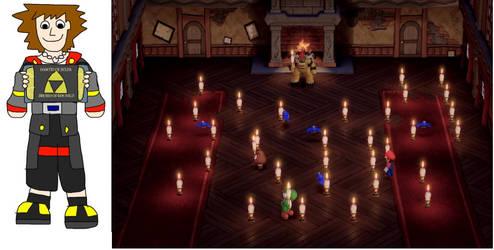 Sora plays Super Mario Party