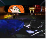 Kim Possible drives her car and using a pedal