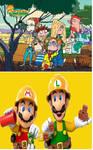 WT Cast adores Builder Mario and Luigi