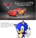 Lightning McQueen meets Sonic
