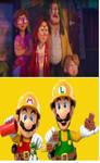 MVTM Cast adores Builder Mario and Luigi