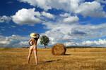 Alentejo hay fields I by PeterLime