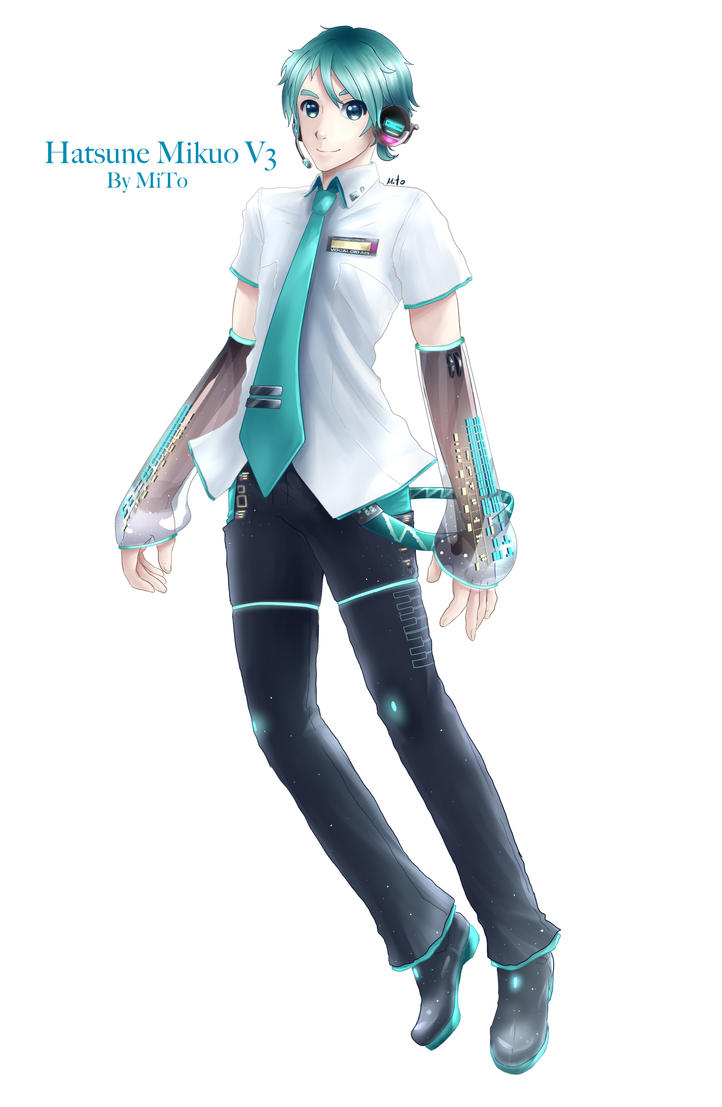 hatsune mikuo v3 design and illustration by mito by