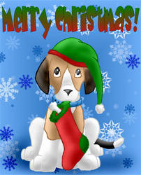 Christmas Beagle by Ryachanira