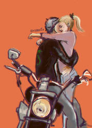Riverdale // Bughead // Bike by vyrenia
