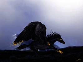 Wings of gold by DarkestHorn