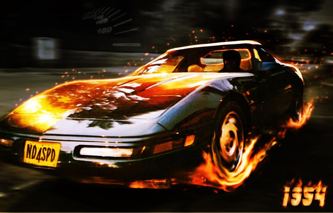 Hell Racer (Need for Speed 1994 Corvette tribute) by HexenStar on